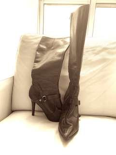 Ralph Lauren | Chocolate brown learner knee high boots | size 8.5