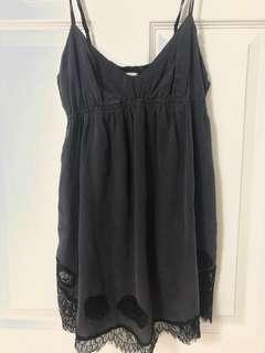 Aritzia Wilfred Silk Lace Babydoll Camisole size xs