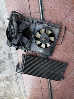 Radiator & condensor wira 1.5auto