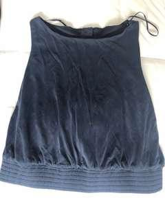 Zara navy blue crop top size small
