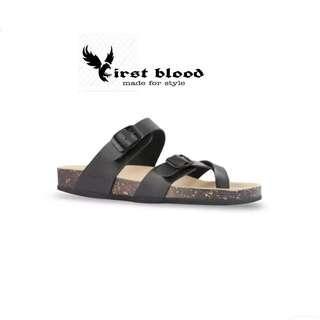 Lancelot black sandal unisex