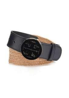 RARE!!! New authentic Tory Burch straw/leather belt