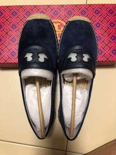 Tory Burch Sidney espadrille suede and calf leather flat shoes