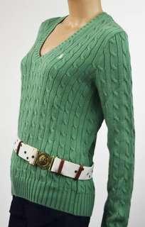 Ralph Lauren Green Knit Jumper