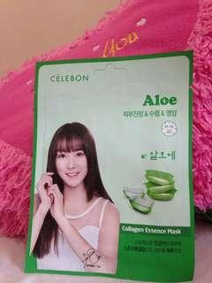 Face Mask Celebon Aloe Collagen Essence Mask