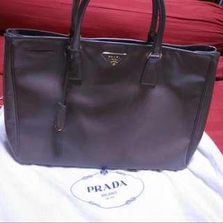 *Priced To Sell* Authentic Prada Saffiano Vernice (Large) BN1844, Designer Color Argilla