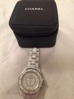 Authentic Chanel J12 watch with diamonds