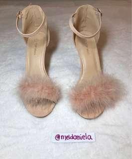 Fashion Nova Furry Blush Maxwell Heels