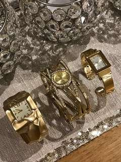 Gold Plated Bangle Watches