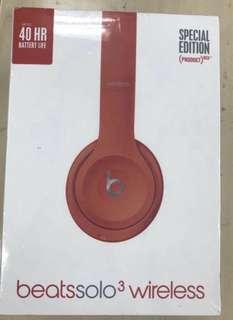 Beats Solo 3 Wireless 全新,紅色特別版