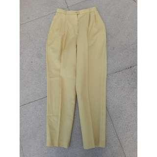 Light Yellow Highwaist Trouser  Size 23