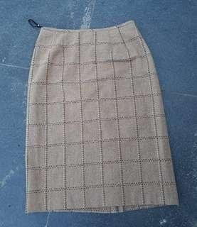 Vintage Brown Highwaist skirt size 28