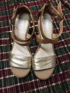 FUGU 💯真皮麻編 交叉涼鞋💋
