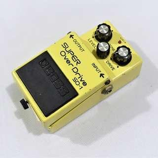 BOSS SUPER OverDrive SD-1 Made in Japan Electric Guitar Effects Pedal