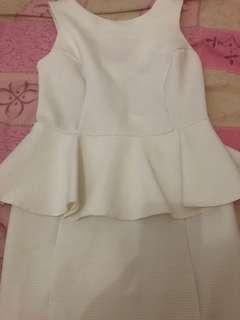 Topshop sexy White Peplum Dress