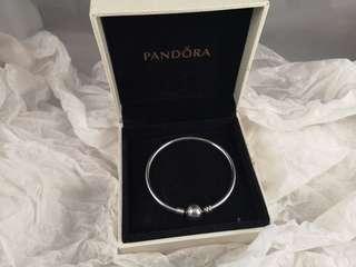 Pandora Sterling Silver Bangle Bracelet (17cm)