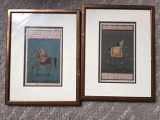 Framed painting from India