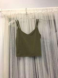 F21 Two Strap Olive Cami