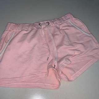 🚚 pastel pink runner shorts