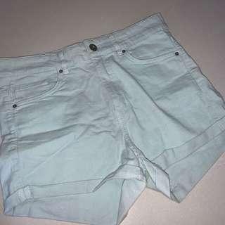 🚚 teal h&m denim shorts