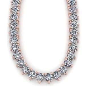 100 ctw 3 Prong SI Diamond Necklace