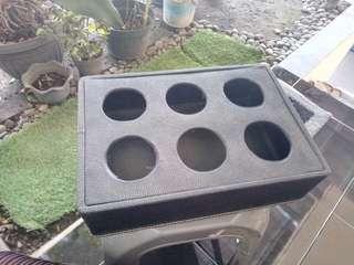 Hard Case Tempat Simpan Aqua gelas black