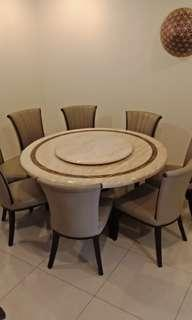 Marble 8 seater round table