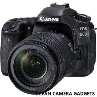 Canon EOS 80D DSLR Camera Body with EF-S 18-135mm IS USM Lens