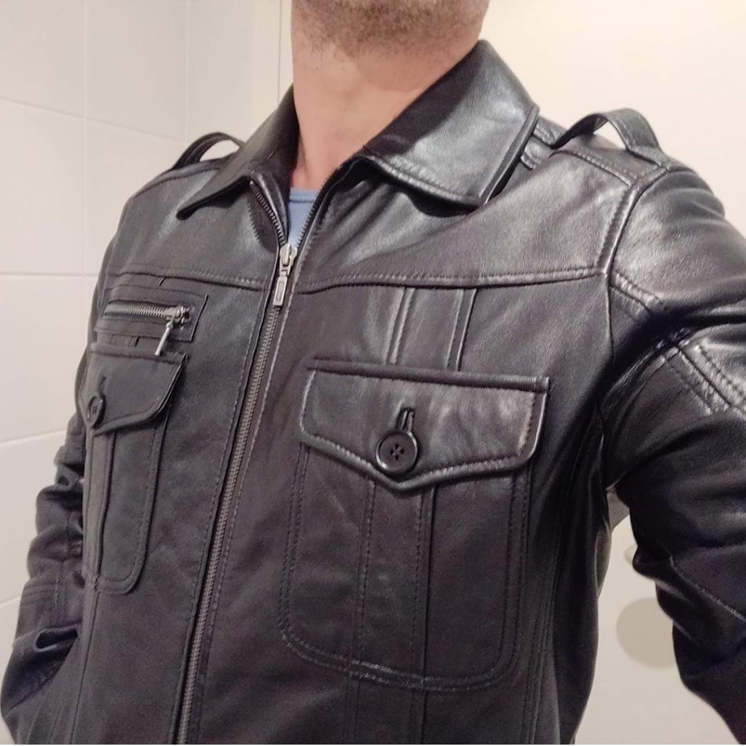 100% Genuine Leather Jacket - Size S/M