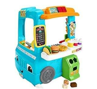 (PO) BN Fisher-Price Laugh & Learn Servin' Up Fun Food Truck Kitchen Toy Set w/Lights, Sounds, Songs & Phrases