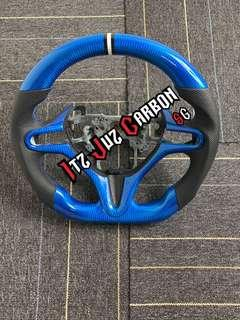 (Ready stock)Honda Civic FD Blue Carbon steering