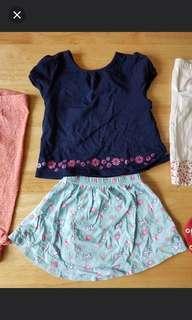 Girls top and leggings