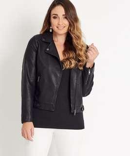 Black leather jacket size 8 brand new