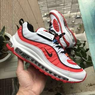 Nike Air Max 98 白紅 Gundam ow聯名 aj6302-113 尺碼:36-44