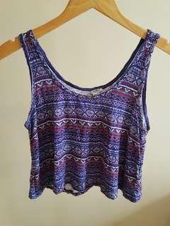 Forever 21 Crop Top Tribal