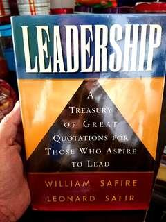*Free Mailing*Leadership - A Treasury of Great Quotations...