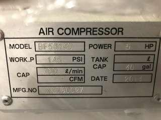 Brand new 5hp air compressor for sale