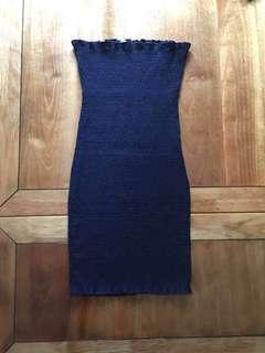 Navy Mini Crepe Dress