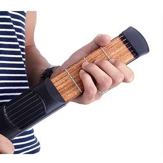 Portable practice guitar