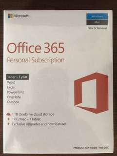 🚚 Microsoft Office 365 Personal Subscription