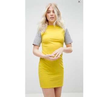 Daisy Street Mini Dress With Contrast Sleeves