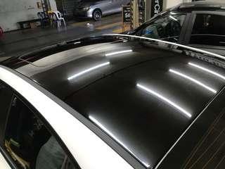 Kia Cerato roof wrapping glossy black