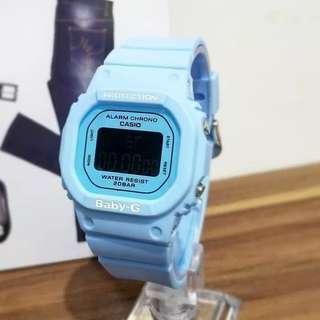 JAM TANGAN WANITA CASIO GSHOCK BABY G GLS 5600 NEW blue  ANTI AIR