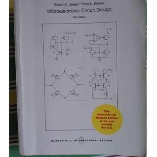 Microelectronic Circuit Design (Fifth Edition)(International Edition)