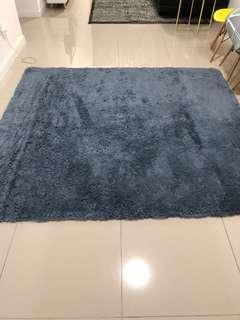 New Big Fluffy Carpet Gray 190cm x 260cm
