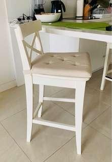 Two Wooden junior chairs along with seat pad