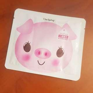 OneSpring Little Pig Rich Moisturising Sheet Mask