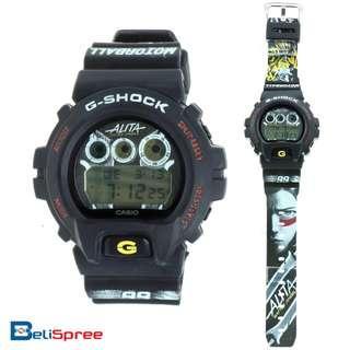 Brand New G-Shock DW-6900 Alita Battle Angel Black Custom Design Special Edition Flash Alert Stopwatch Digital Printed Resin Watch