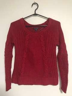 American Eagle sweater in red