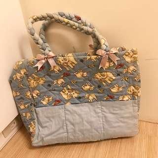 🚚 大象圖案曼谷手提小包